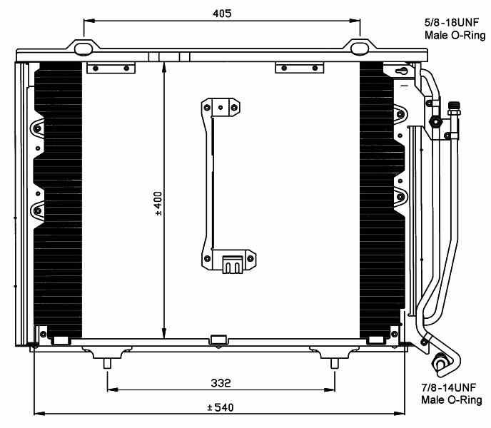 W202 Klimaanlage MERCEDES-BENZ Kondensator C 200