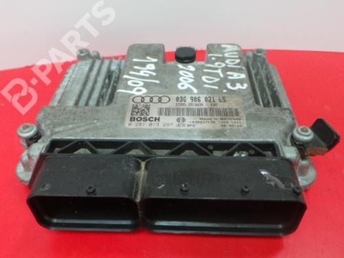 03G 906 021 LS / 0 281 013 297 Motorstyringsenhed A3 Sportback (8PA) 1.9 TDI (105 hp) [2004-2010]  3969181