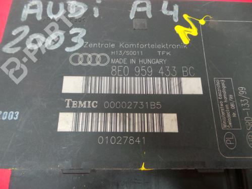 Electronic Module 8E0 959 433 BC / 00002731B5 AUDI, A4 (8E2, B6) 1.9 TDI(4 doors) (130hp), 2000-2001-2002-2003-2004 20797030