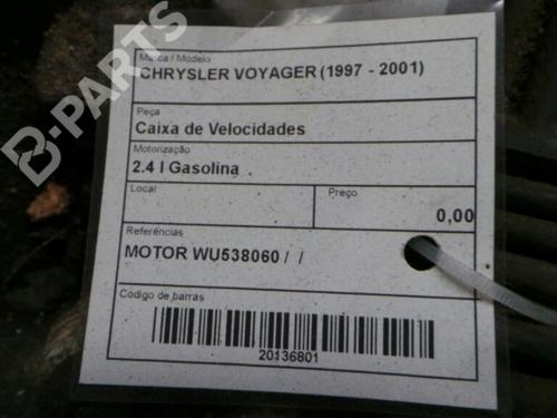 Caixa velocidades manual CHRYSLER VOYAGER / GRAND VOYAGER III (GS) 2.4 i WU538060 29842