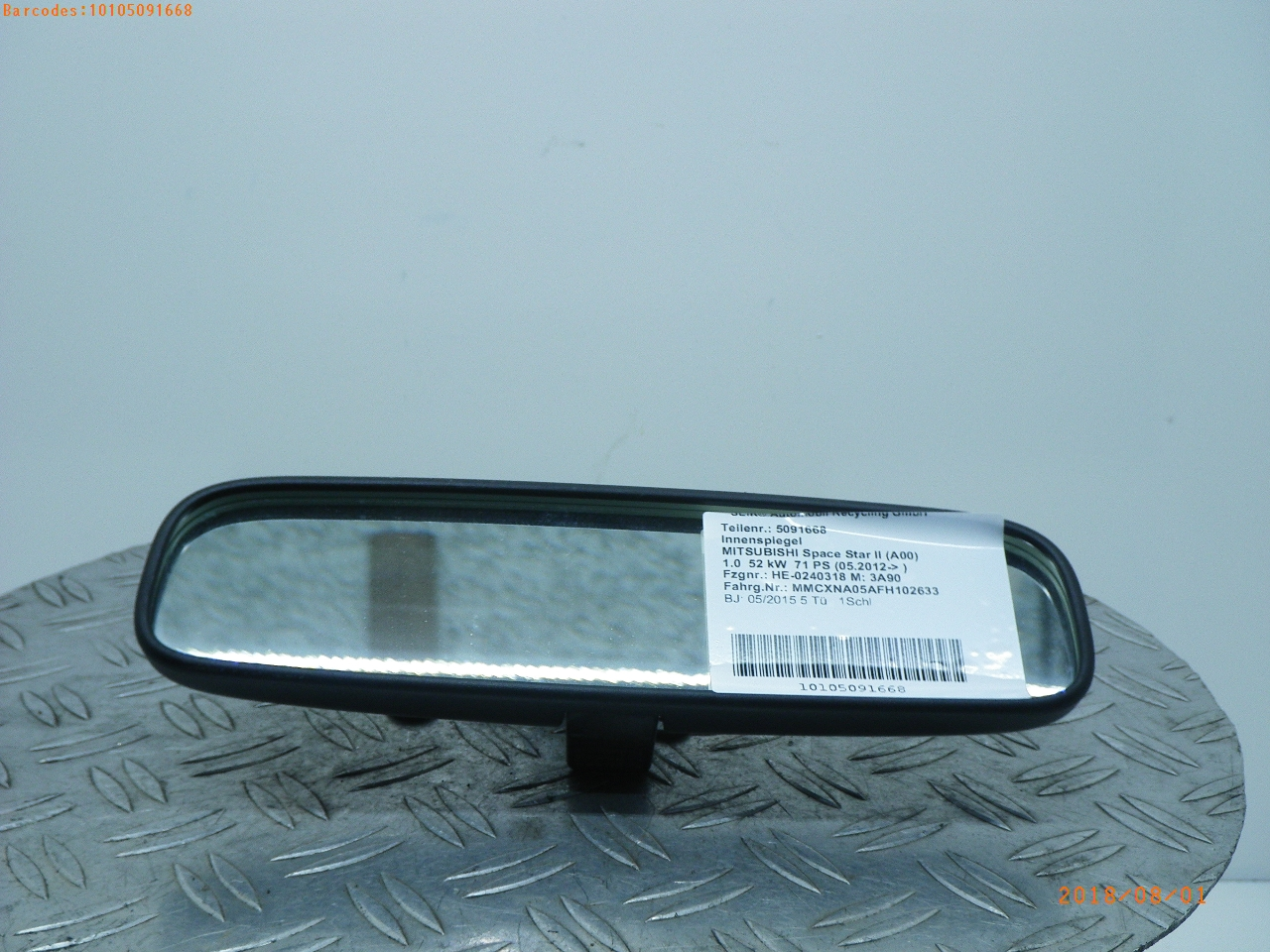 Right Driver Side Mirror Cover For Mitsubishi MIRAGE Hatchback 2012 Onwards