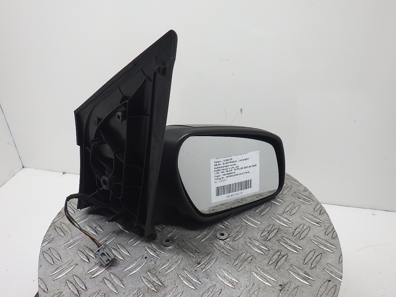 NEW Wing Mirror Glass FORD FIESTA Passenger side 89/>94