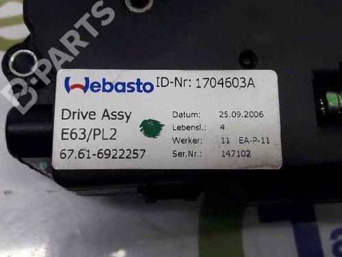 Motor do tecto de abrir BMW 3 Coupe (E92) 330 d 67616922257 | 1704603A WEBASTO | 61617161711 | 20060305