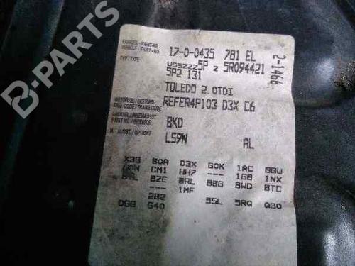 Feu arrière droite SEAT TOLEDO III (5P2) 2.0 TDI 16V  37496846