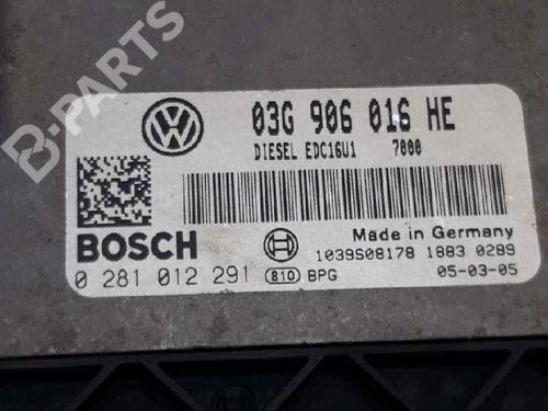 Calculateur moteur (ecu) SEAT TOLEDO III (5P2) 2.0 TDI 16V 03G906016HE   0281012291   BOSCH   30226664