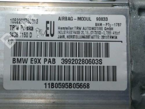 Airbag do passageiro BMW 3 Touring (E91) 320 d 39920280603 8606289