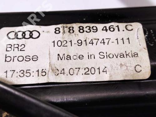 Rudehejsemekanisme venstre bagtil AUDI A5 Sportback (8TA) 2.0 TDI 8T8839461C | 8K0959802A | 34486340
