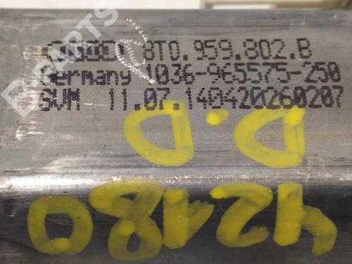 Rudehejsemekanisme Højre foran AUDI A5 Sportback (8TA) 2.0 TDI 8T8837462B | 8T0959802D | 34486327