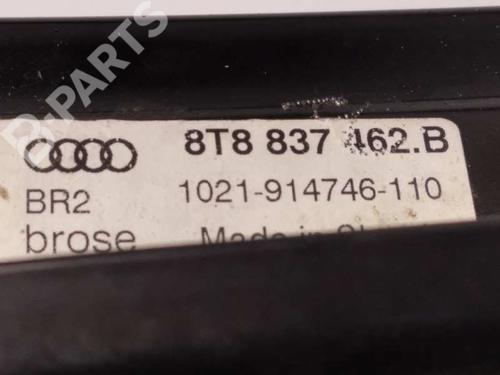 Rudehejsemekanisme Højre foran AUDI A5 Sportback (8TA) 2.0 TDI 8T8837462B | 8T0959802D | 34486328