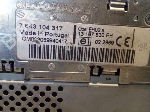 Bilradio OPEL TIGRA TwinTop (X04) 1.4 (R97) 13167830FH | 7643104317 | 27611232
