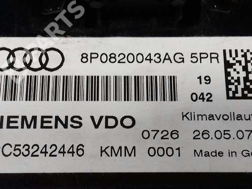 Commande Chauffage AUDI A3 (8P1) 2.0 TDI 16V 8P0820043AG 16014723