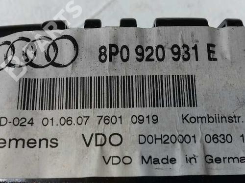 Kombiinstrument AUDI A3 (8P1) 2.0 TDI 16V 8P0920931E 16014733