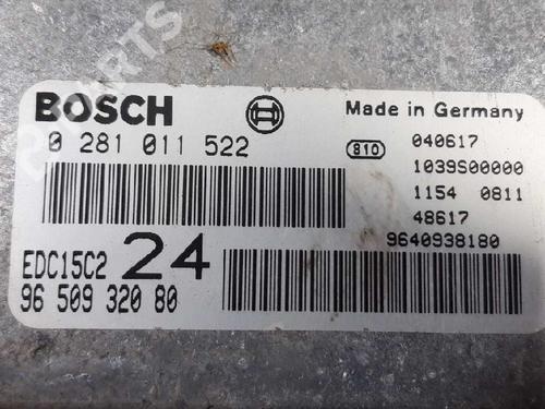 9650932080 Centralina do motor 807 (E) 2.2 HDi (128 hp) [2002-2021] 4HW (DW12ATED4) 3271791