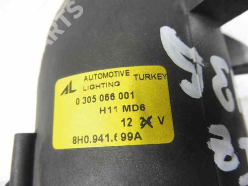 Venstre  Fortil Tågelygte AUDI A4 Convertible (8H7, B6, 8HE, B7) 2.5 TDI 8H0941699A   13937273