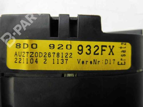 Instrument Cluster 8D0920932FX AUDI, A4 (8D2, B5) 1.9 TDI(4 doors) (116hp), 2000 16127230