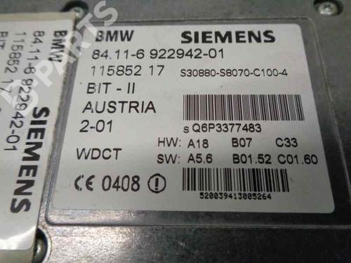 Elektronik Modul BMW X5 (E53) 3.0 d 84116922942 | 11585217 | 34035869