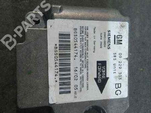 09229303BG   Kollisjonspute styreenhet ZAFIRA A MPV (T98) 2.2 DTI 16V (F75) (125 hp) [2002-2005] Y 22 DTR 2387931