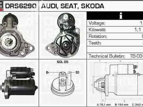 Startmotor AUDI A3 (8L1) 1.8 T 0001107020020911023A | BOSCH | 20038970