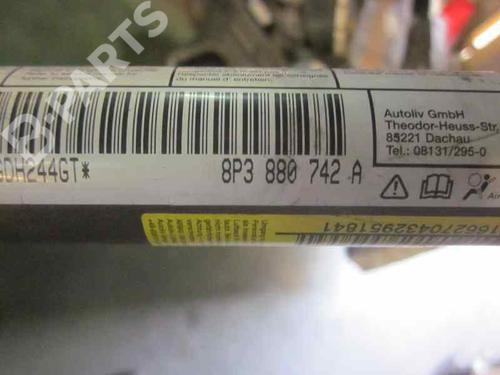 Høyre gardin kollisjonspute AUDI A3 (8P1) 2.0 TDI 16V 8P3880742A | 3P | 19138036