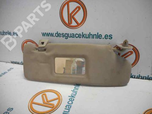 Right  Sun Visor FIESTA III (GFJ) 1.3 Cat (60 hp) [1991-1997] J6B 2450536