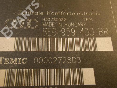 Control Unit AUDI: 8E0959433BR AUDI, A4 Avant (8ED, B7) 2.0 TDI 16V(4 doors) (140hp), 2004-2005-2006-2007-2008 20669346