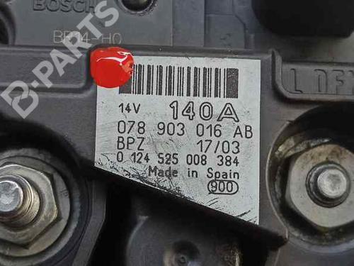 Alternador AUDI A4 Convertible (8H7, B6, 8HE, B7) 2.5 TDI 0124525008 | 078903016AB | 43161742