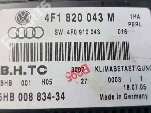 Klimabedienteil AUDI A6 Avant (4F5, C6) 2.0 TDI 4F1820043M | 5HB00883434 | 4F1820043M | 32742627