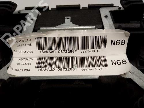 96470413XT | 0051786 | Førerens kollisjonspute XSARA PICASSO (N68) 1.6 HDi (90 hp) [2005-2011]  3060427