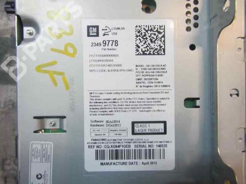 Bilradio OPEL ASTRA J (P10) 1.4 Turbo (68)  23533065