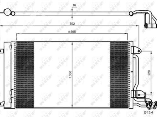 AC Radiator 6R0820411G AUDI, A1 (8X1, 8XK) (3 doors), 2010-2011-2012-2013-2014-2015-2016-2017-2018 14850583