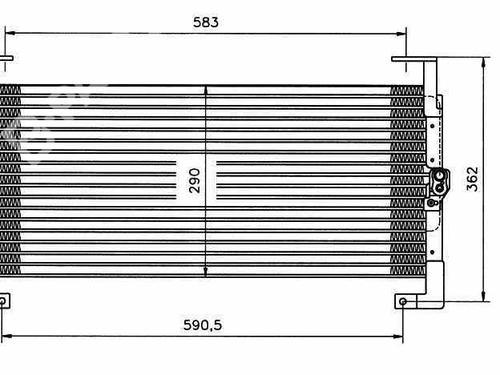 Radiador de A/C CHRYSLER NEON (PL) 2.0 16V 4740109   35198   33715134
