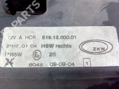 Optica direita BMW 3 (E36) 318 tds 5191200001 13779767