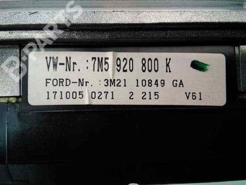 Cuadro instrumentos FORD GALAXY (WGR) 1.9 TDI 7M5920800K | 3M2110849GA | E3-B3-33-3 | 31072540