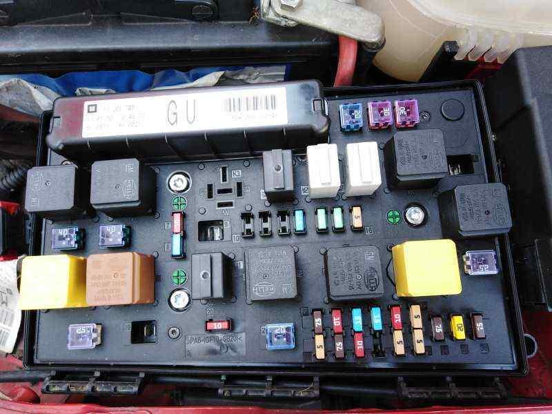 fuse box opel astra h gtc (a04) 1.7 cdti (l08) 13206748 | 5dk00866848 |  b-parts  b-parts