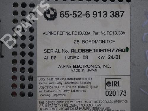 Display monitor BMW 5 (E39) 530 d BMW: 65526913387 35227349