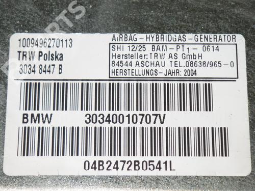Driver airbag BMW X3 (E83) 2.0 d BMW: 30340010707V 35218711