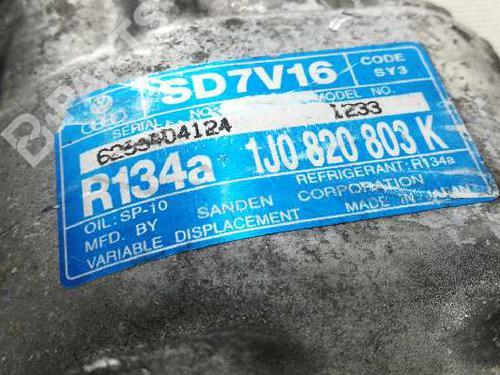 AC Compressor AUDI A3 (8L1) 1.9 TDI 1J0820803K 15370134
