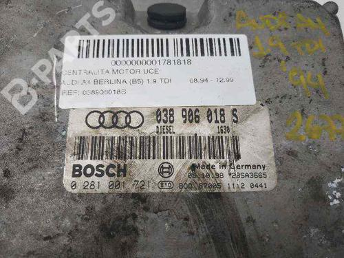 Motorstyringsenhed AUDI A4 (8D2, B5) 1.9 TDI 038906018S | 0281001721 | 28SA3665 | 34491672