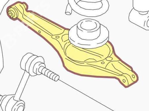 Høyre bak bærearm AUDI A3 (8P1) 1.9 TDI 1K0505311AB | 27478567