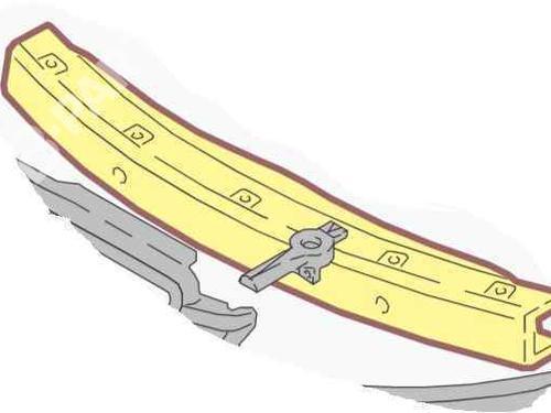 Støtfangerbjelke foran AUDI A6 Allroad (4FH, C6) 3.0 TDI quattro 4F0807111E | 28179160