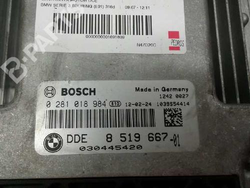 Centralina do motor BMW 3 Touring (E91) 318 d 0 281 081 984 | 030445420 | 13782054