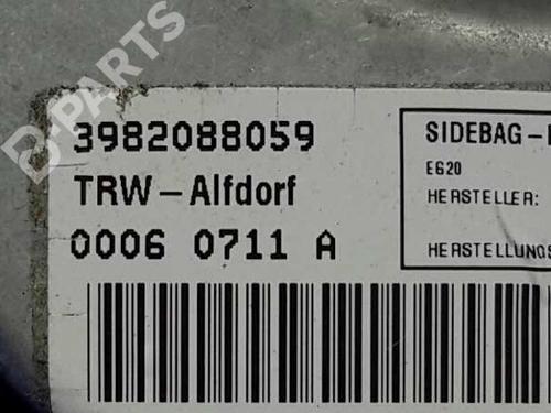 Venstre gardin kollisjonspute BMW 5 (E39) 525 i  2387583